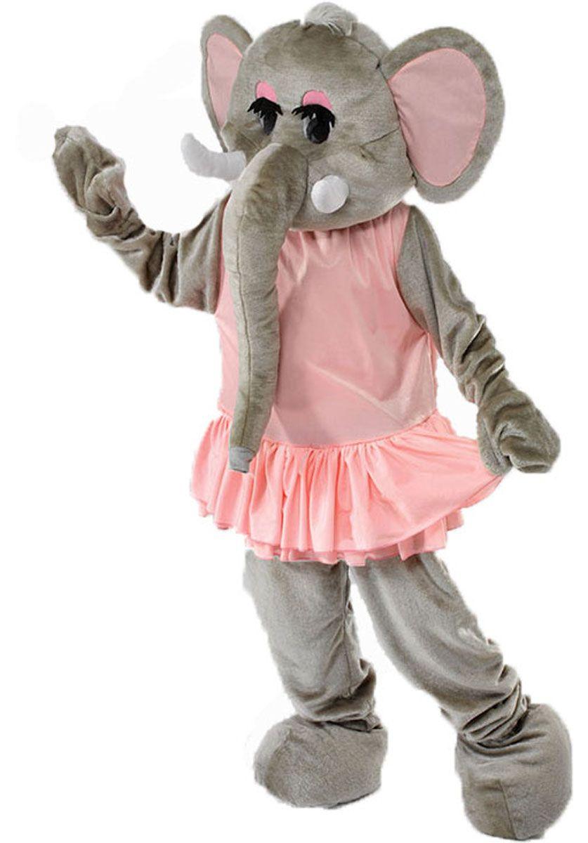 Ernie the Elephant Adult Mascot Costume