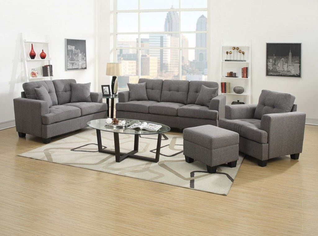 Emerald Home U3610A 13 2PCSET K Clearview Sofa Loveseat Set Gray - Sofa and Loveseat Set