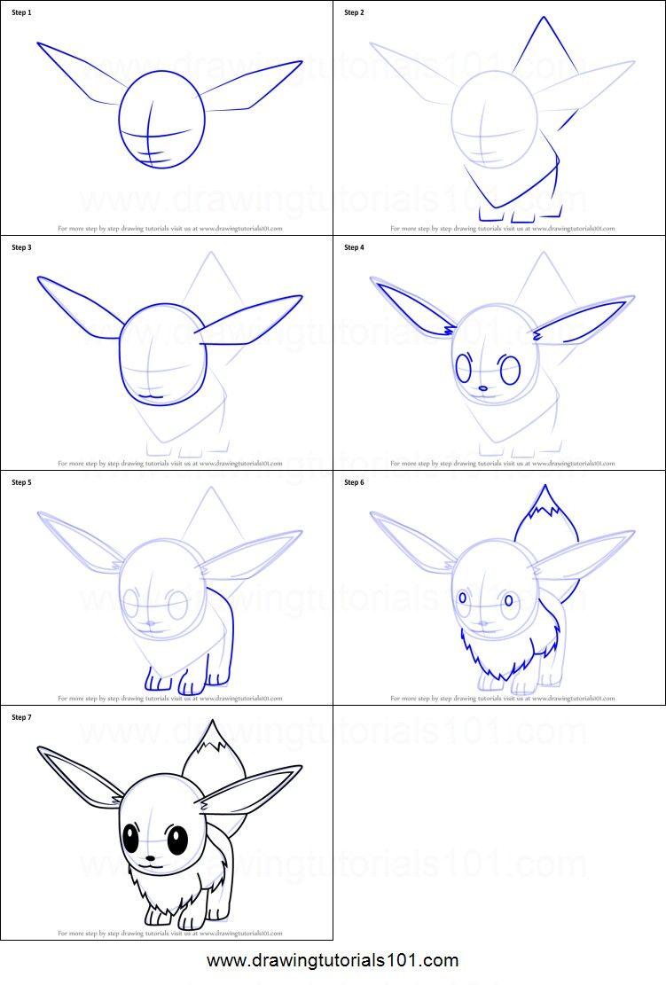 How To Draw Eevee Pokemon Eevee Draw Easy Pokemon Drawings Easy Drawings Cute Easy Drawings