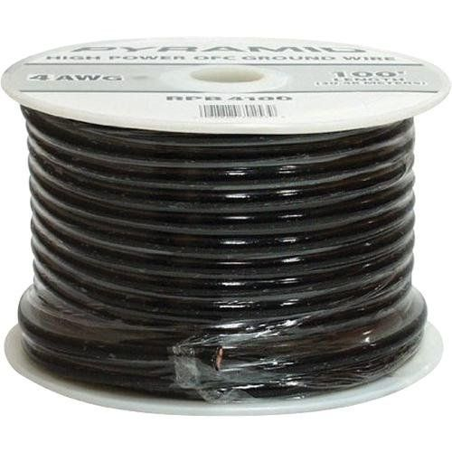 Pyramid Rpb10100 10 Gauge Ground Wire 100 Feet Ofc Black By Pyramid 19 99 10 Gauge Black Ground Wire 100 Ft Ofc 15 0 25 X 7c D 5 0mm Electronic Cables
