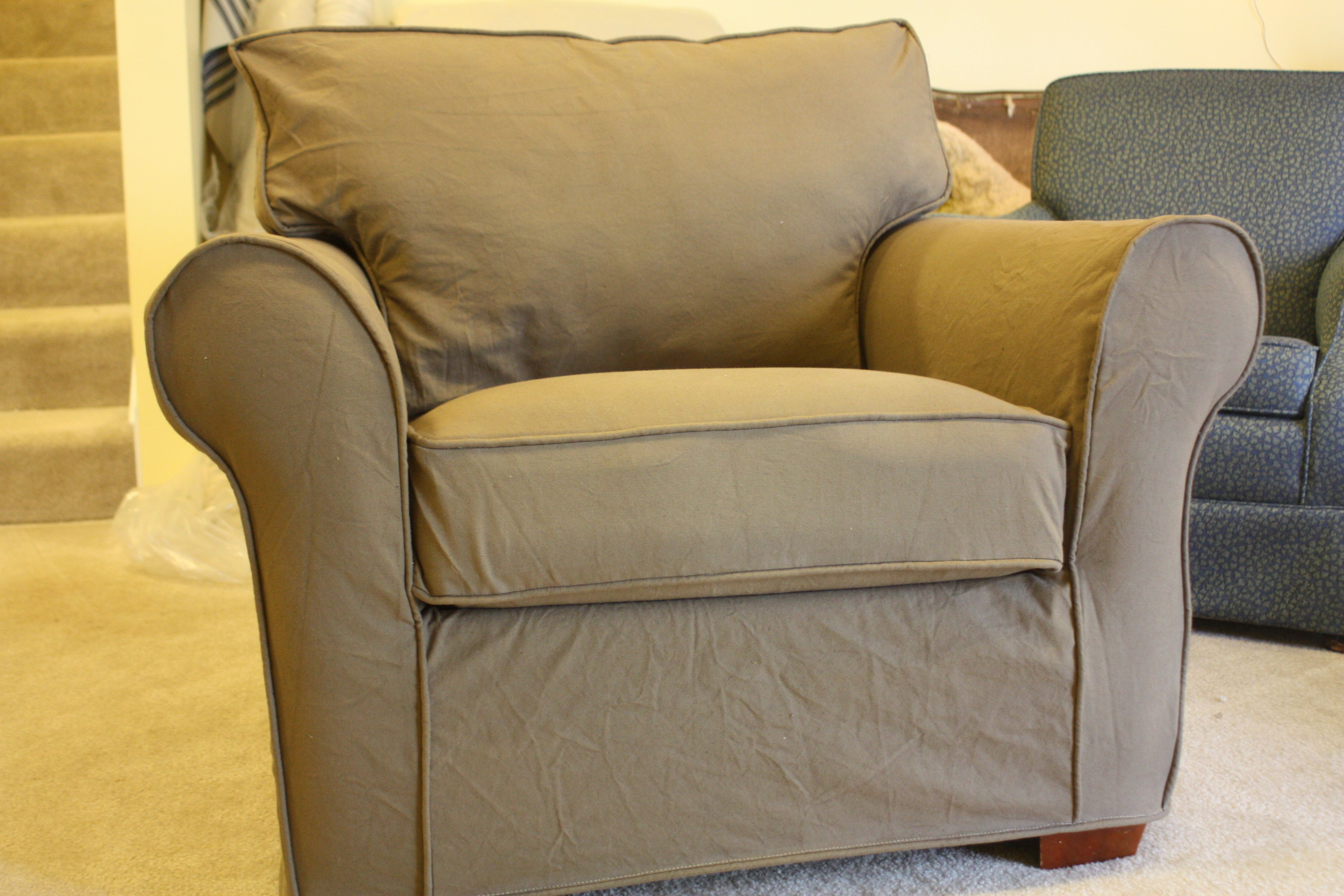 Canvas chair ottoman slipcovers for chairs chair and
