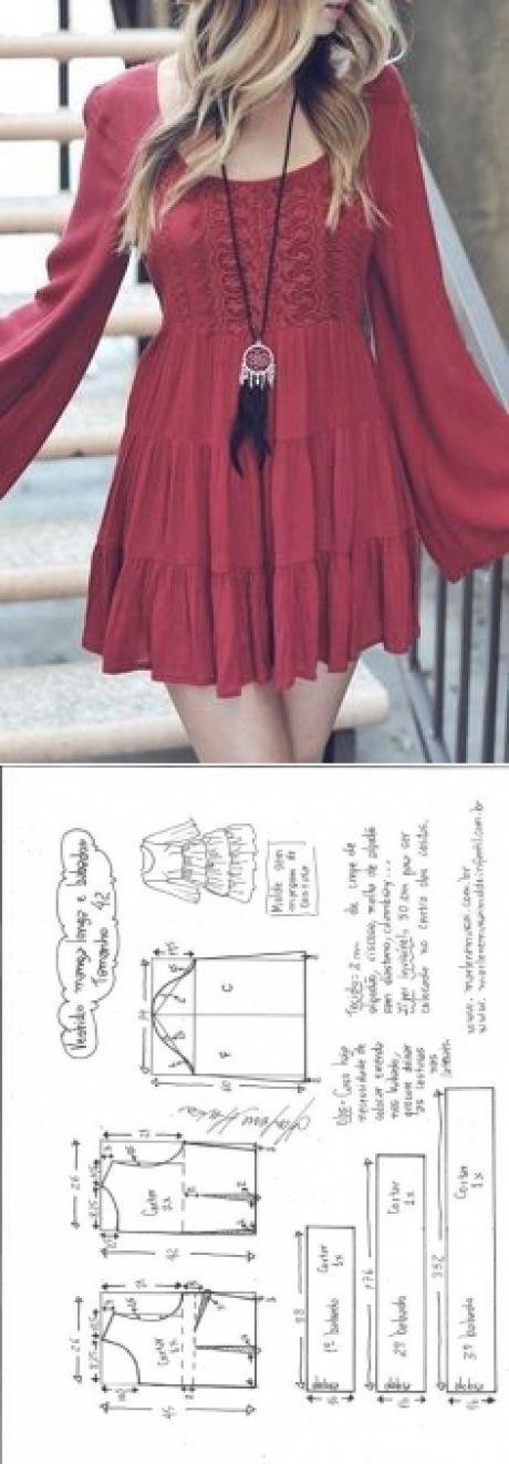 Cómo hacer vestidos cortos desde cero DIY - 30 patrones gratis - El ...