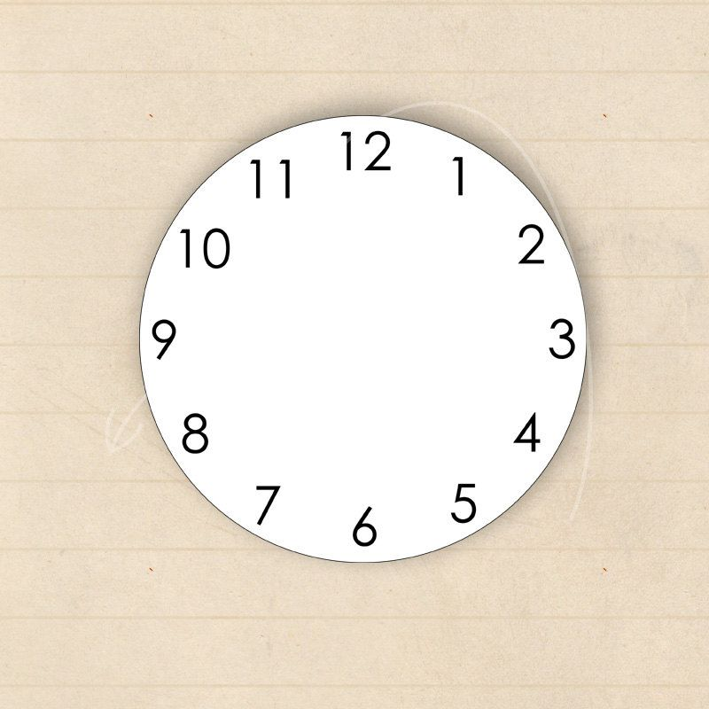 Art Clock Face Template  Clockface Template Instant Download