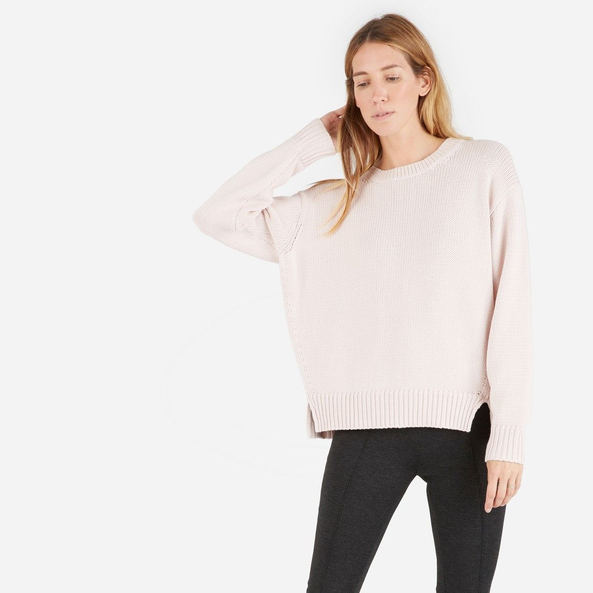 The Chunky Knit Cotton Crew – $85 | Products, Sweaters and We