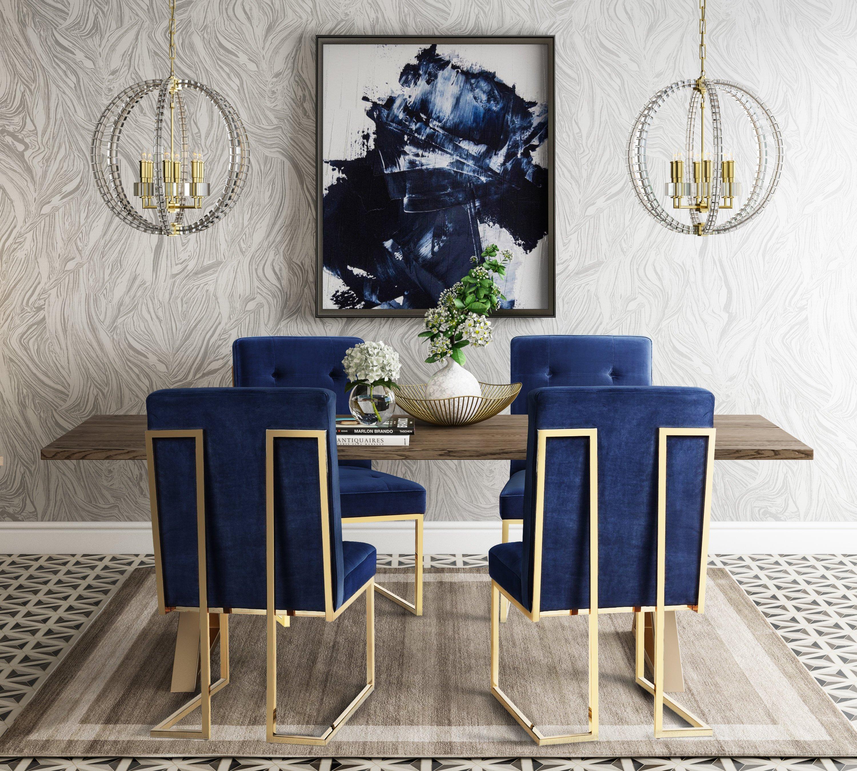 Tov Furniture Leah Modern Dining Table Tov G5495 Modern Dining Table Home Decor Dining Room Design
