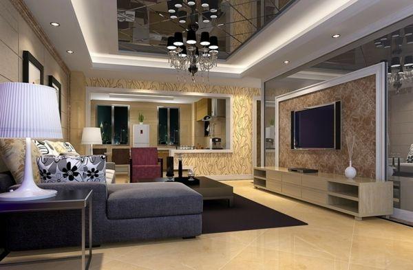 Delightful Elegante Wohnzimmer Wandgestaltung