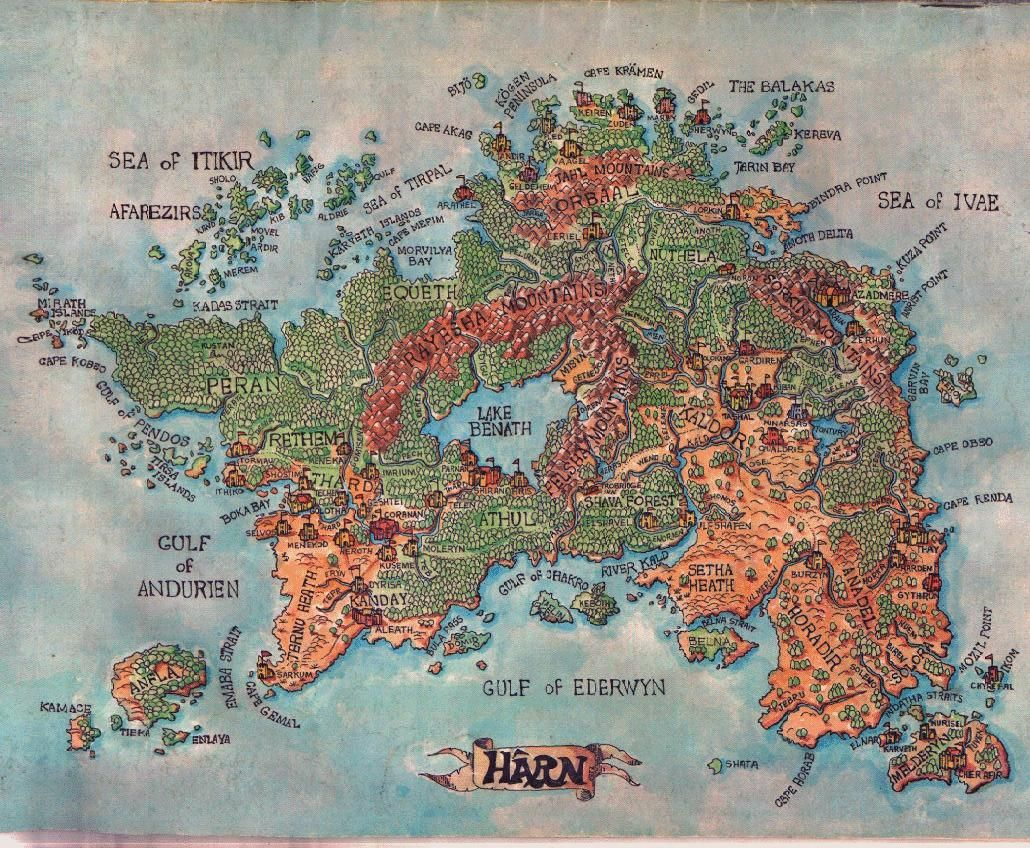 Most Detailed World Map.Oldschoolfrp Meanwhilebackinthedungeon Map Of Harn The Harnlands
