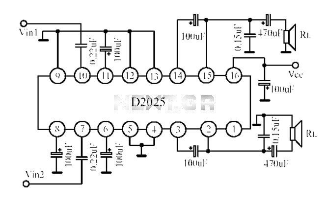 Circuito de amplificador de áudio: circuitos de áudio