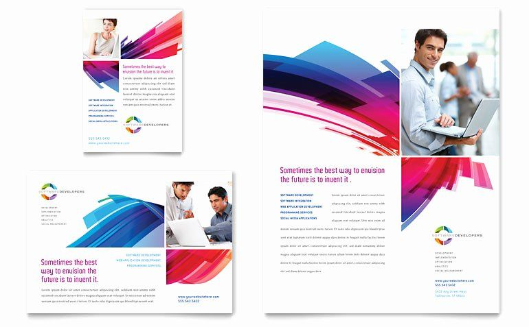 1 4 Page Flyer Template Free Awesome Software Solutions Flyer Ad Template Word Publisher Flyer Template Book Cover Template Free Brochure Template