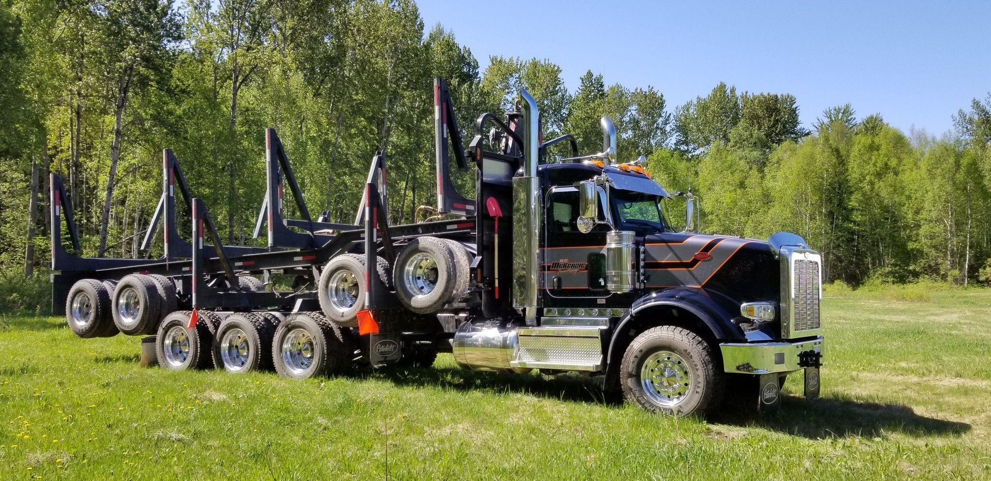 Peterbilt 367 Tridrive Logger Peterbilt Work Truck Trucks