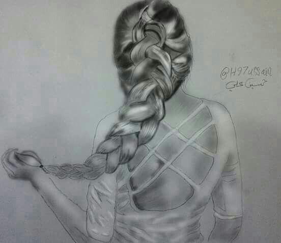 انا امرأة احارب وقاحتهم بصمتي اتجاهل عقولهم الصغيرة ب ر قي انوثتي انتصر على تخلفهم ب ابتسامتي Humanoid Sketch Art