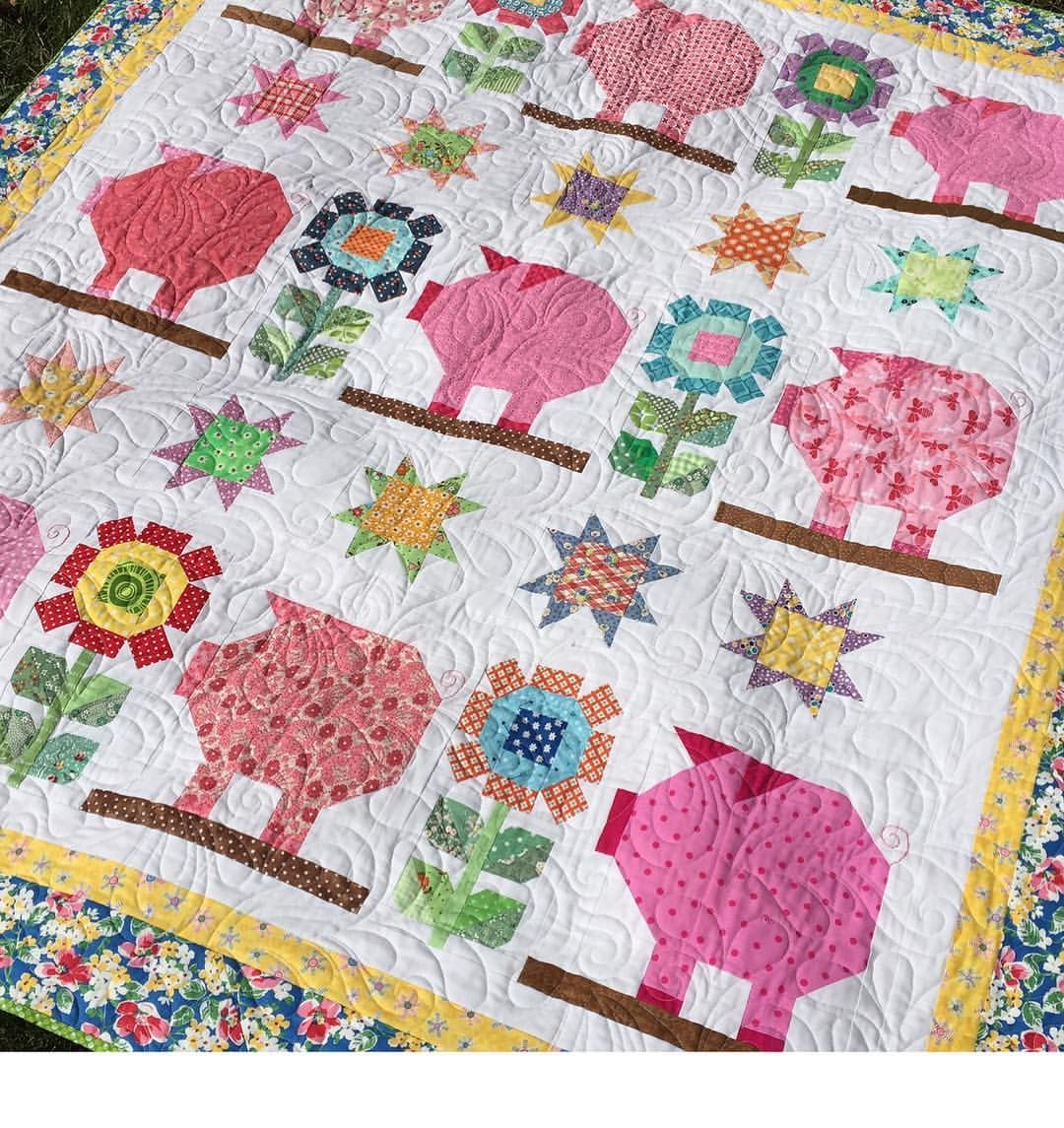 Hi Friends. I'm Reposting My #pennypigquilt For