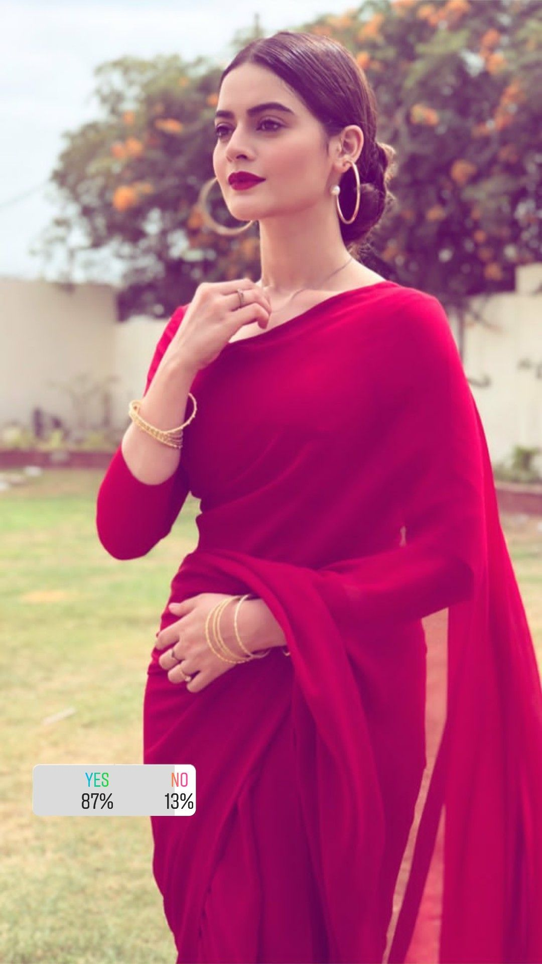 db6e12c629a902 Aiman Khan wearing simple red saree (simple and gorgeous looking red silk  saree) Aiman is a Pakistani television actress. She has established a  career in ...