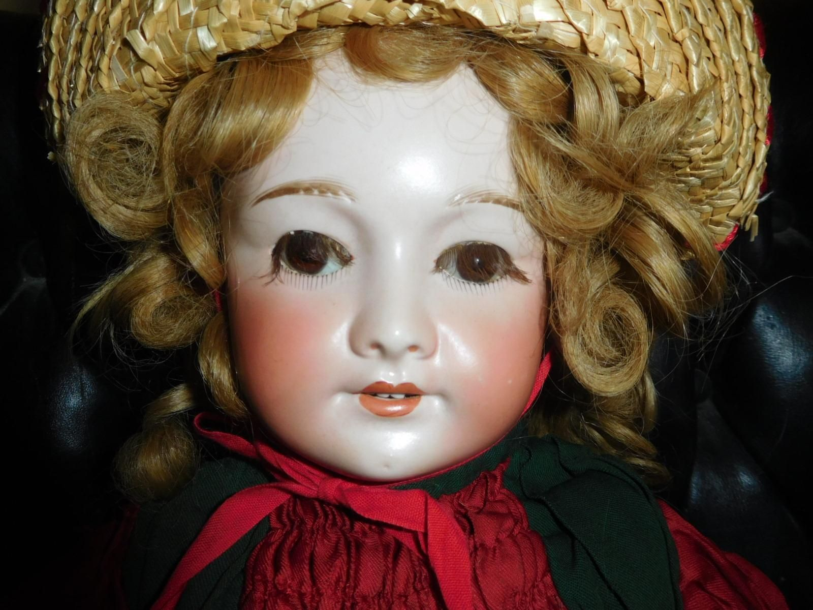 "24"" Antique SFBJ Fren ch Bisque Doll, Beautiful Bisque, Nice Clothing"
