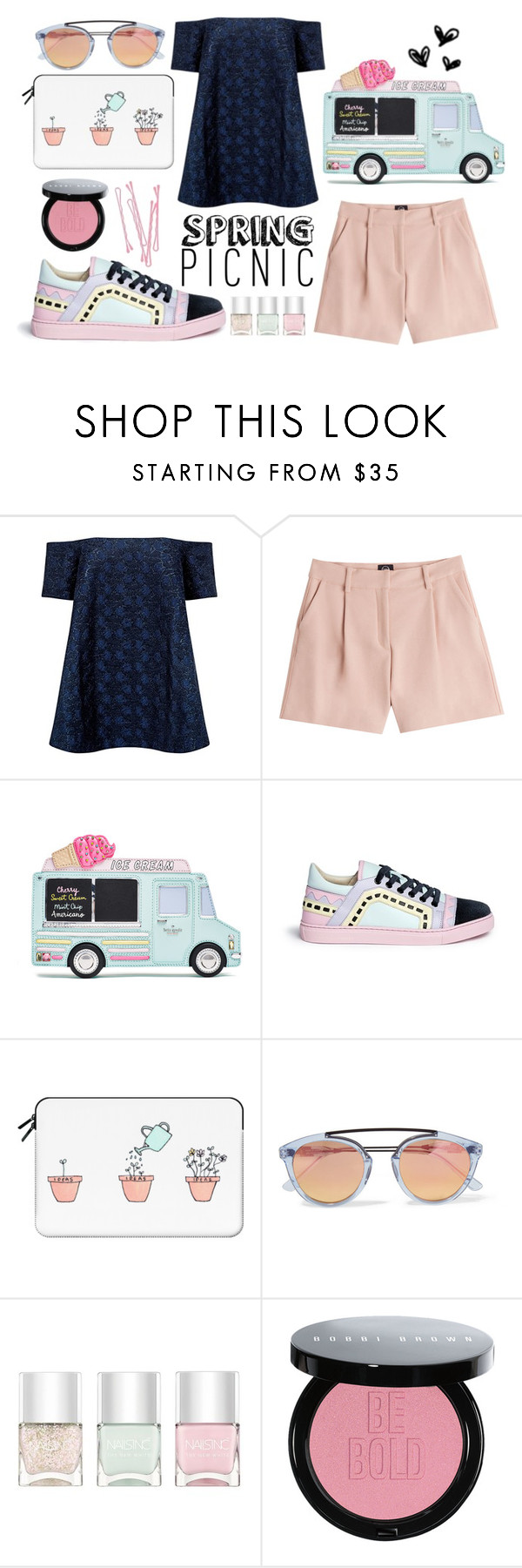 """""""I Eat Ice Cream in Spring"""" by sandraindriani ❤ liked on Polyvore featuring Edit, McQ by Alexander McQueen, Sophia Webster, Casetify, Westward Leaning, Nails Inc., Bobbi Brown Cosmetics and BOBBY"""