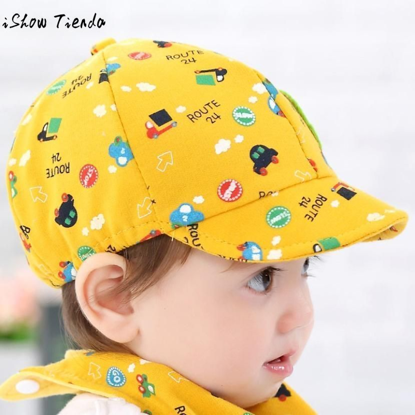 Baby Hat Cute Cartoon Printing Toddler Infant Cap Little Car Baseball Cap Gorro Infantil Photography Blue Baby Sun Hat Girl Girls Sun Hat Kids Hats
