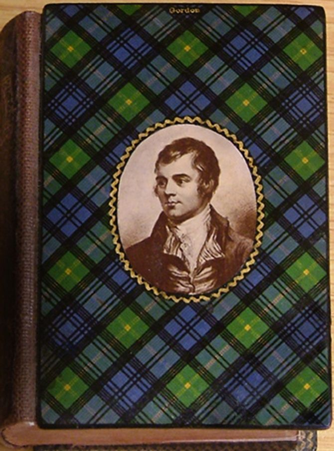 An absolutely gorgeous antique edition of Robert Burns poetry in 'Gordon' tartanware.