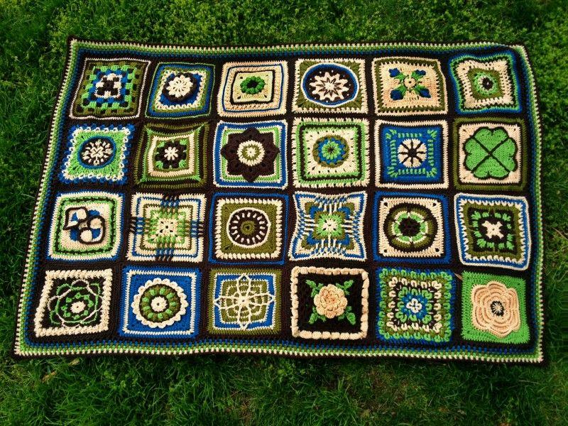 "BAWL"" Done! - Crochet Sampler Afghan | Telar, Colchas y Ganchillo"