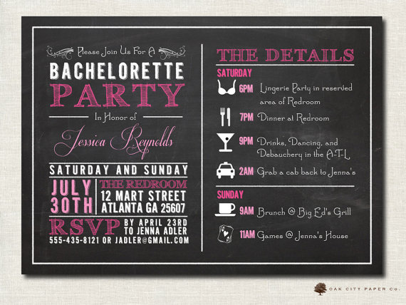 Bachelorette Invitation - Bachelorette Party Invitation