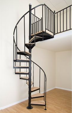 Spiral stair warehouse spiral staircases metal spiral stairs for my deck project home - Ruimtebesparende mezzanine ...