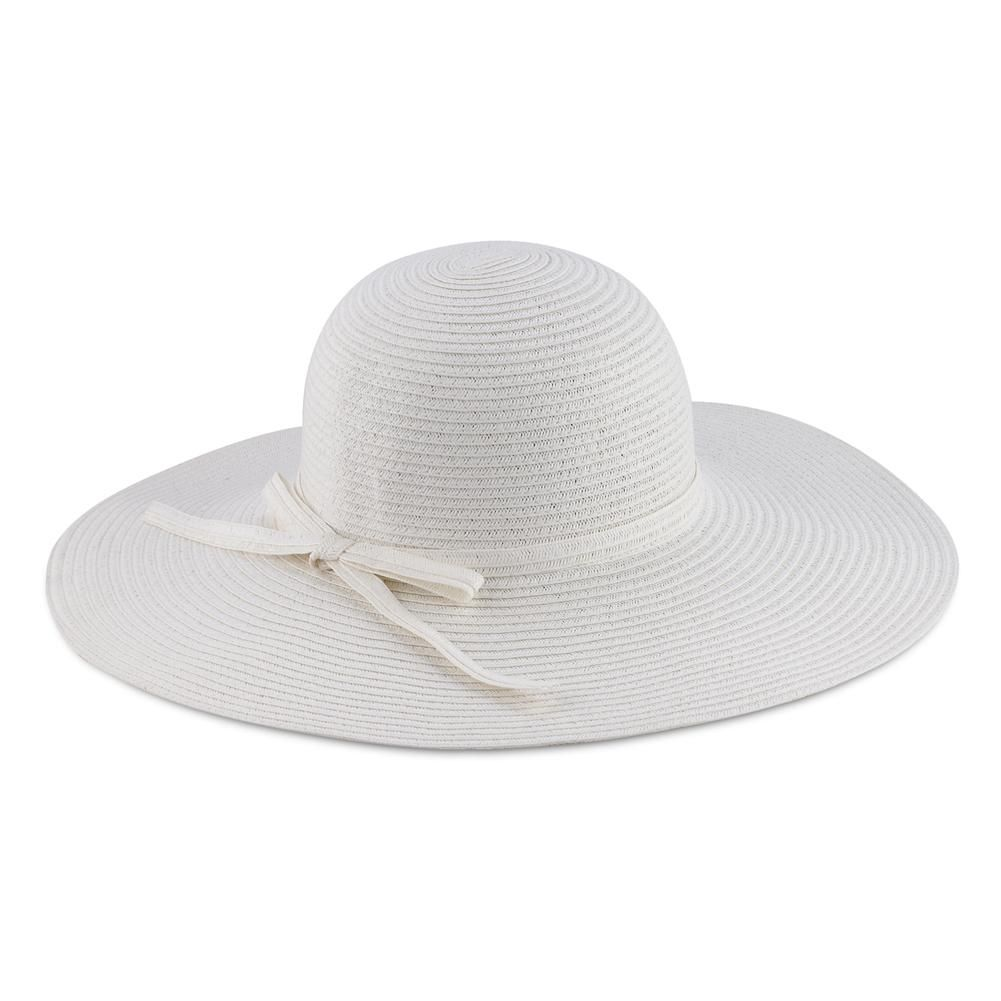 22eb9a5ae40 White Raffia Hat w  Braid Band