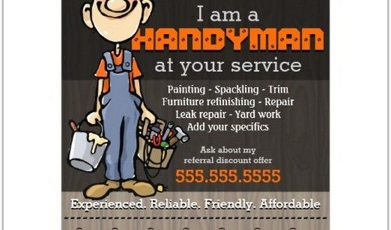 Best Handyman Flyer Templates Designs Web Resources Free - Handyman business cards templates free