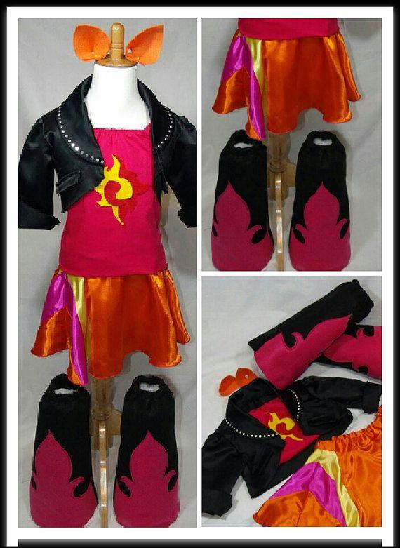 c3c8cef3706df Sunset Inspired Costume Jacket Top Skirt Boots & Ears Girls/Women's ...