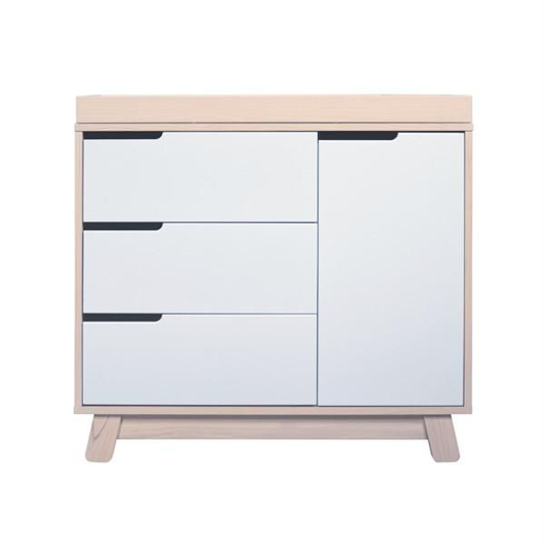 Babyletto Hudson Change Table/Dresser   Washed Natural And White