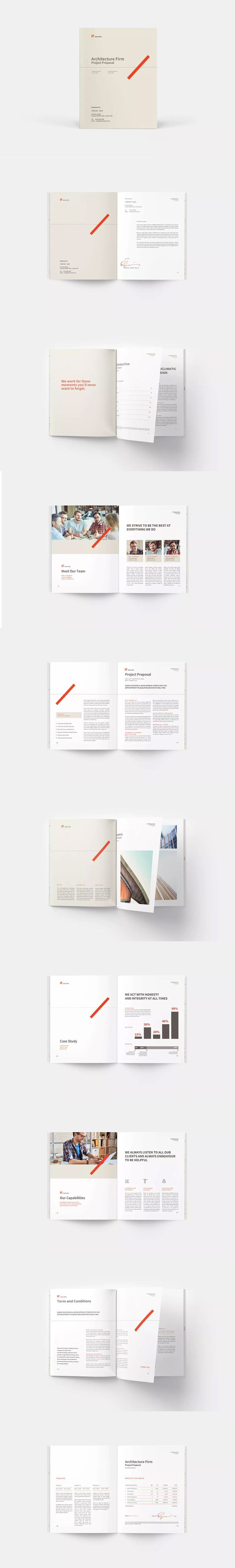 Architecture Proposal Template Indesign Indd A4 Letter Size