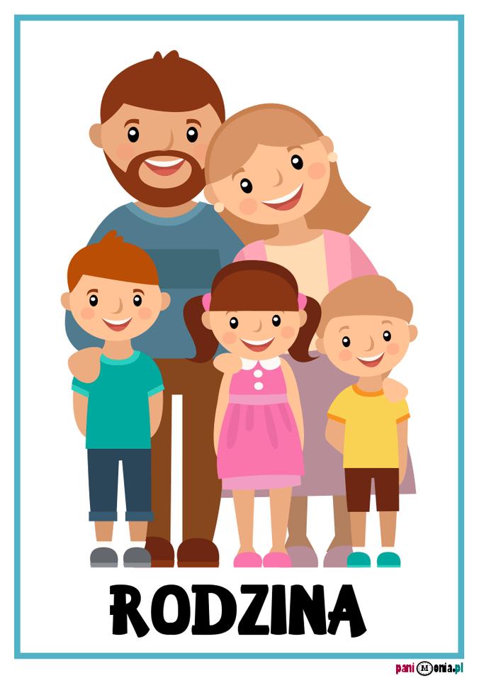 Ja I Moja Rodzina Gigapaka Przedszkolaka Pani Monia Family Drawing Family Vector School Fun
