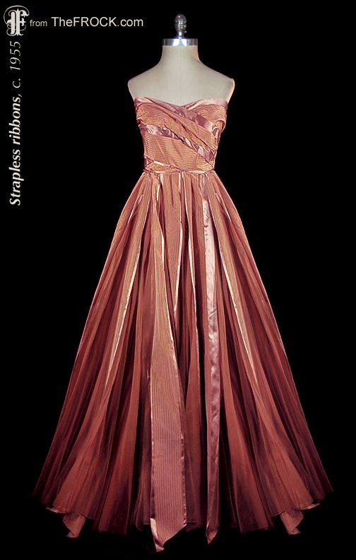 Vintage 1950s Formal Prom Dress Ball Gown The Garment Is From Our Vintage Couture Collection At Vintage Evening Gowns Prom Dresses Vintage Vintage Dresses