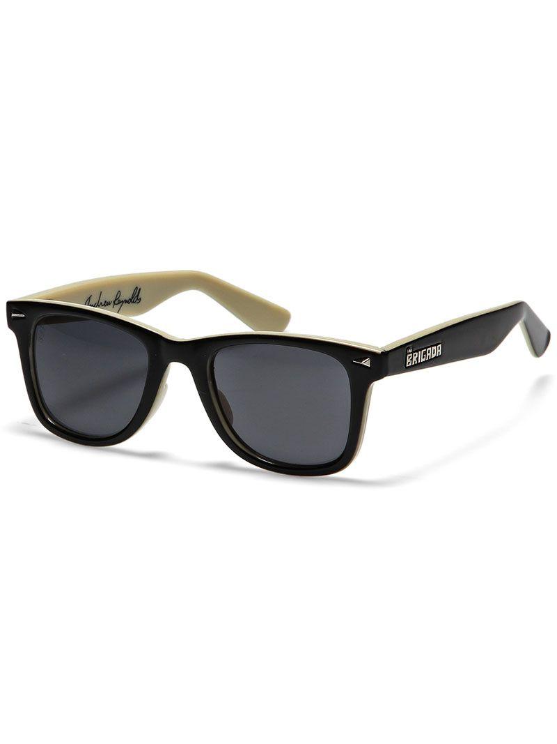 5e474aacb8a2 Brigada Reynolds Sunglasses Black Tan w  Black Lens