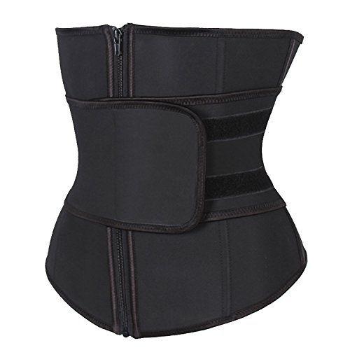 73334cdab KIWI RATA Abdominal Belt High Compression Zipper Neoprene Waist Trainer  Cincher Corset Body Fajas Sweat KIWI RATA Women s Waist Trainer Trimmer  Belt – Sauna ...