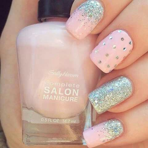Cute pink and silver nails nails pinterest silver nail nail cute pink and silver nails prinsesfo Choice Image