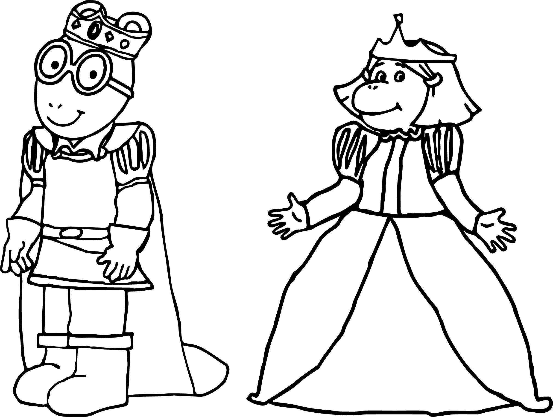 Nice Prince Arthur And Princess Francine Arthur Coloring Page Princess Coloring Pages Coloring Pages Princess Coloring