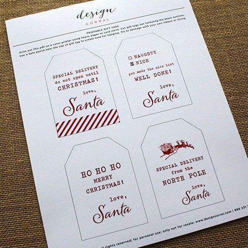 Printable from santa tags designcorral printables from santa free printable christmas gift tag negle Images
