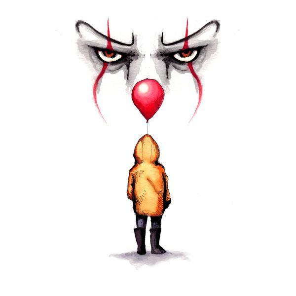 halloween imagenes de terror they all float  zeichnung