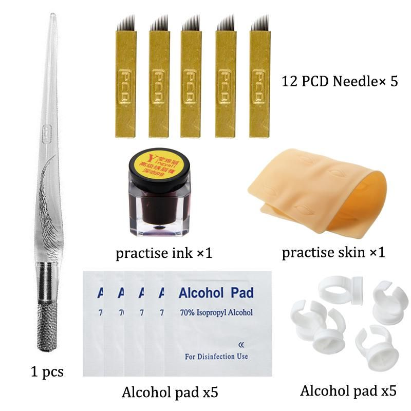 Permanent Makeup Tattoo Accessories Microblading Eyebrow Tattoo Kit Manual Pen Practice Pigment Practice Sk Eyebrow Tattoo Microblading Eyebrows Makeup Tattoos