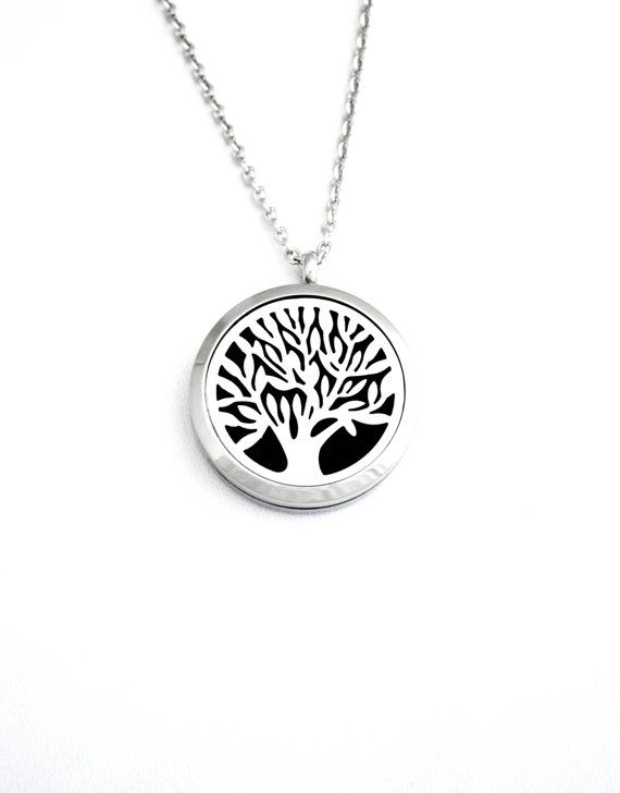 Tree of Life  Stainless Steel Essential Oil Diffuser by CrunchyFox
