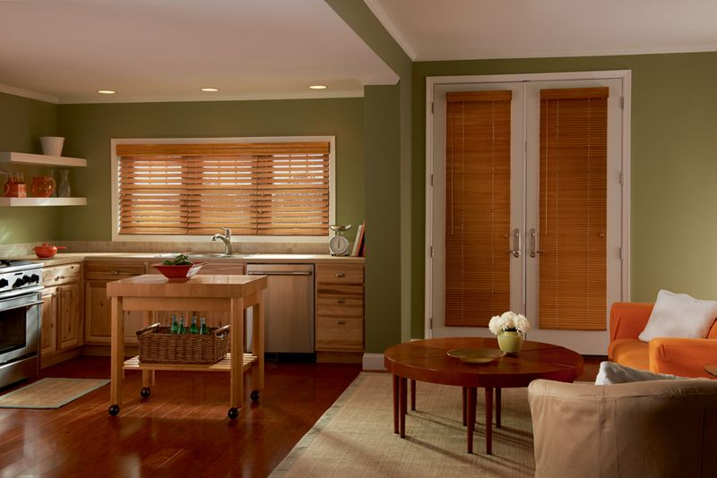 2 1 2 Shutter Style Faux Wood Blinds Faux Wood Blinds Blinds Wood Blinds