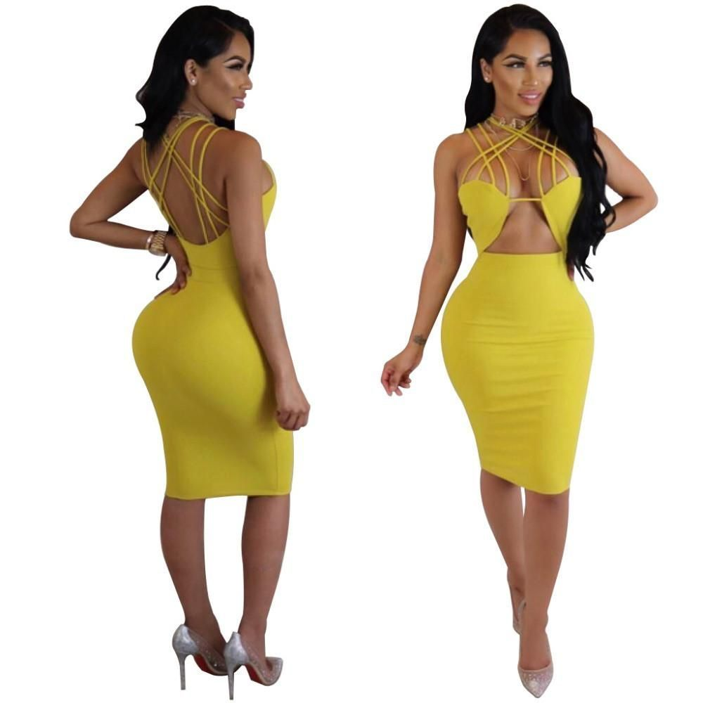 Viviana bandage dress neckline shoulder and products