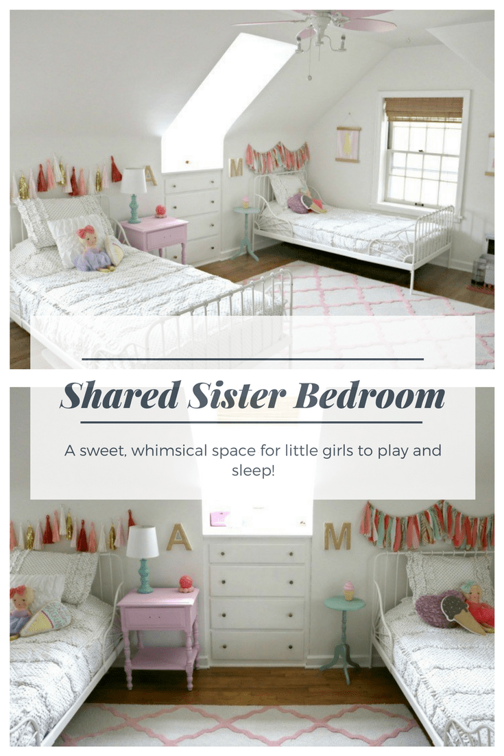The Spena Sisters Shared Girls Bedroom With Beddy S Showit Blog Shared Girls Bedroom Shared Girls Room Child Bedroom Layout