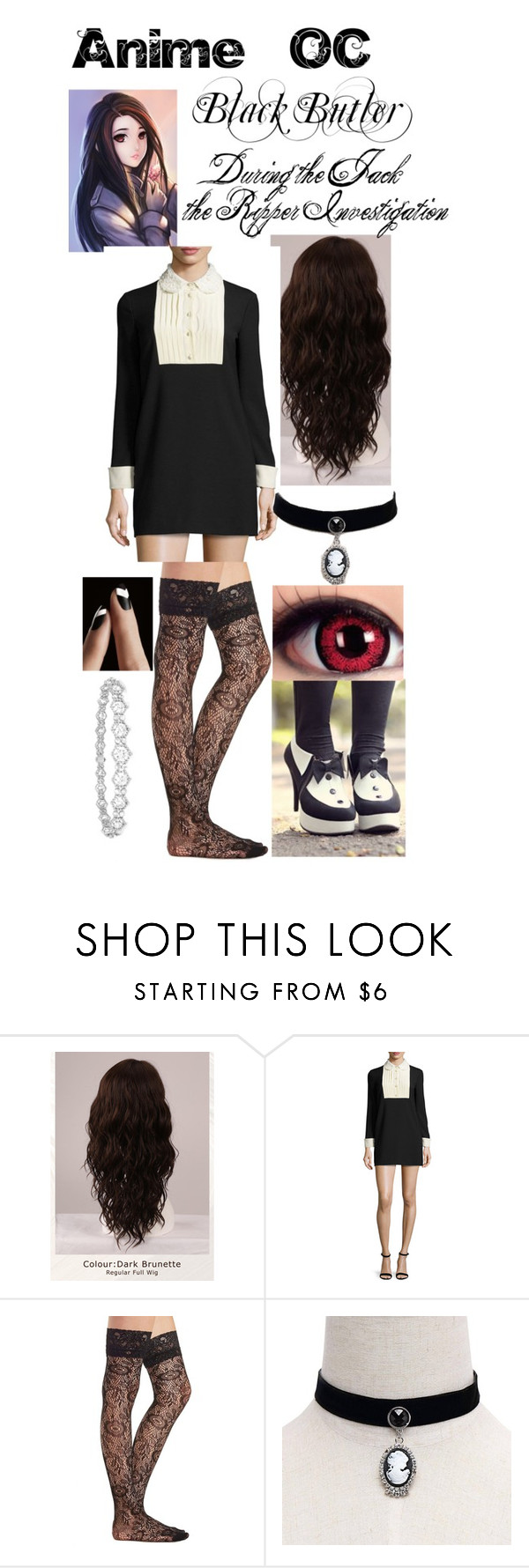 """""""Untitled #459"""" by lily-kun ❤ liked on Polyvore featuring WigYouUp, RED Valentino, Charlotte Russe and Epoque"""
