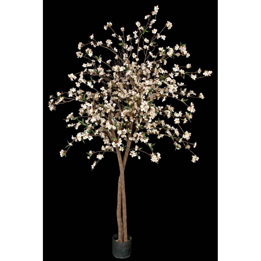 6 5 Foot Cherry Blossom Tree With Natural Trunks Potted From Artificial Plants And Trees Cherry Blossom Flowers Cherry Blossom Tree Silk Tree