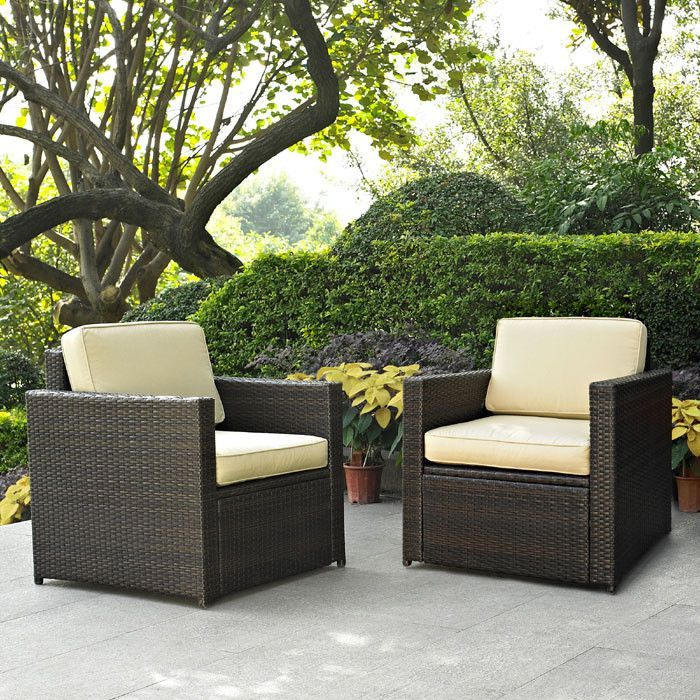 Crosley Furniture Ko70005br Palm Harbor 2 Piece Outdoor Wicker Seating Set Two Chairs