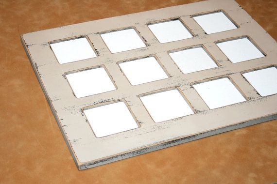 Shabby Chic Picture Frame Collage Multiple Opening For 12 4x4 Or