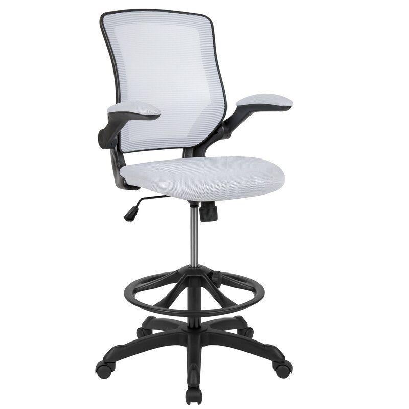 Pierrepont Mid Back Ergonomic Mesh Drafting Chair In 2020