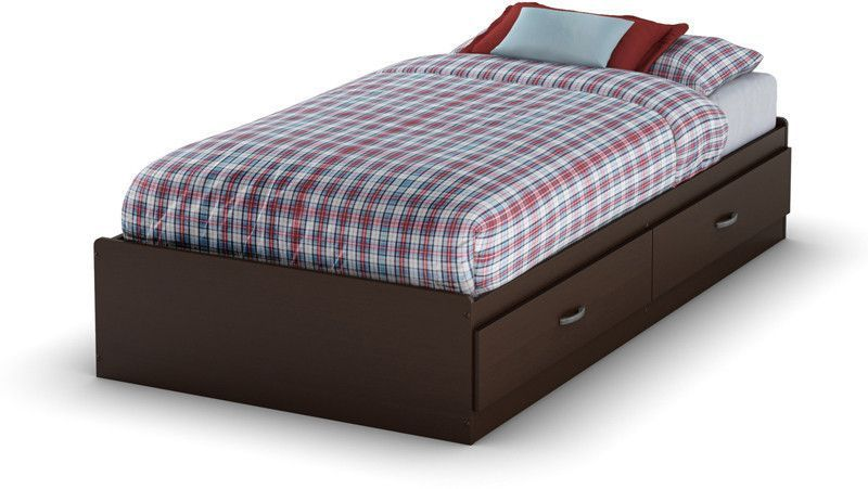 South Shore 3359213 Logik Collection Twin Mates Bed (39'') Chocolate