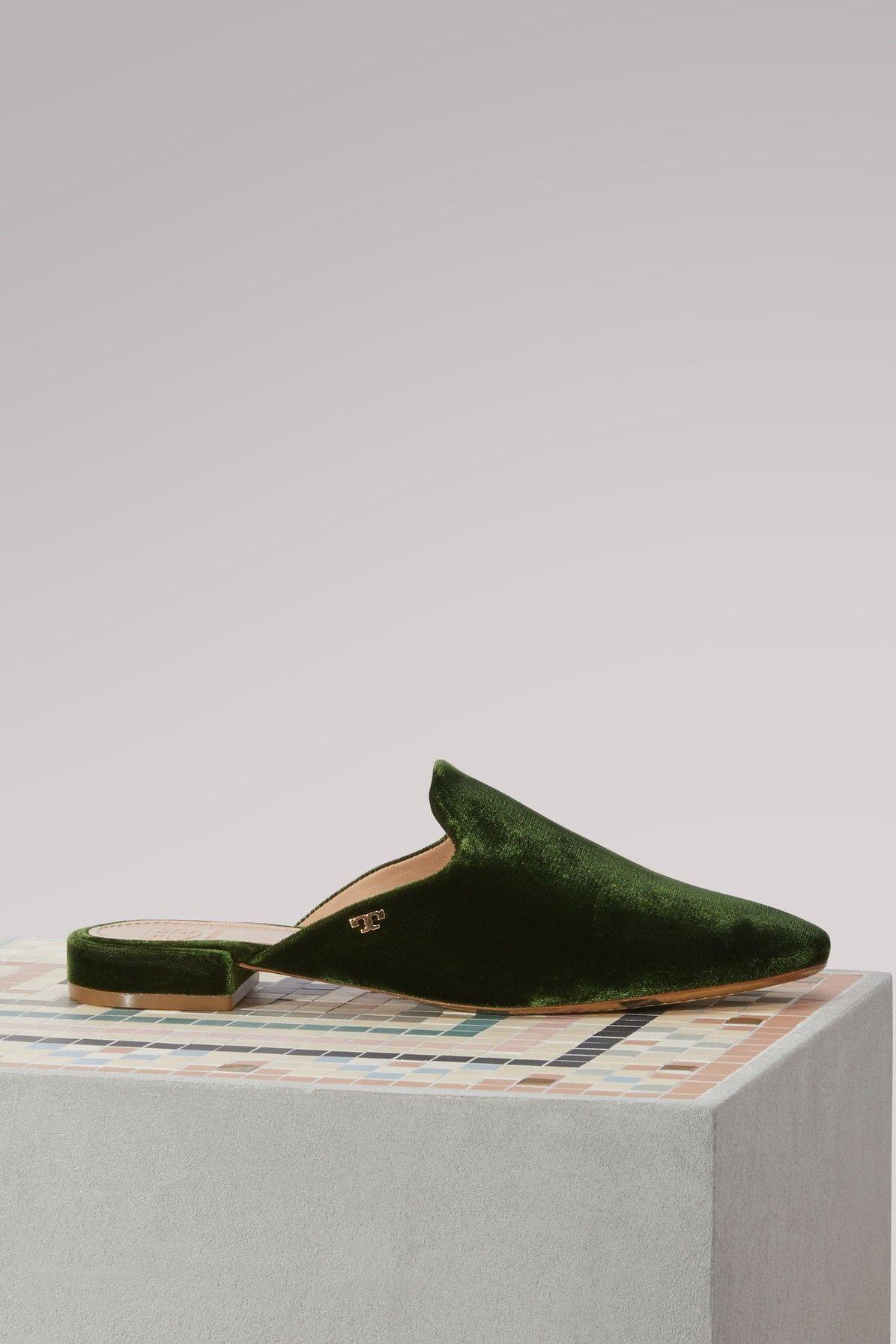 12ec91709a6c TORY BURCH VELVET CARLOTTA MULES.  toryburch  shoes