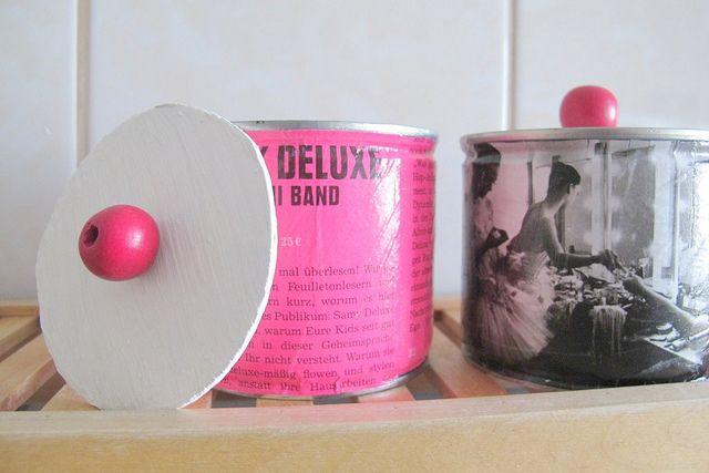 dosen upcycling pink rosa recycling decopatch serviettentechnik upcycling ideen anleitungen. Black Bedroom Furniture Sets. Home Design Ideas